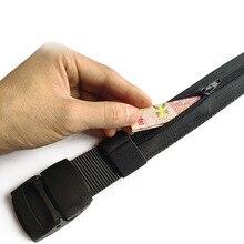 Winfox Men Women Canvas Waist Chain Belt Travel Security Money Belt Hidden Money Pocket Tactical Belt Anti-Theft Wallet Belt red fox ремень money belt