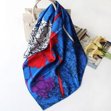Charming Print 100% Silk Scarf Shawl Wraps for 2020 Spring Fashion Scar