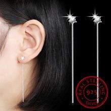Женские длинные серьги кисточки со звездами