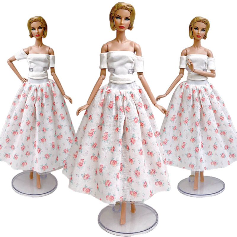 """Fashion Doll Clothes For 11.5/"""" Doll Dress Outfits Gown Top Floral Midi Skirt 1//6"""