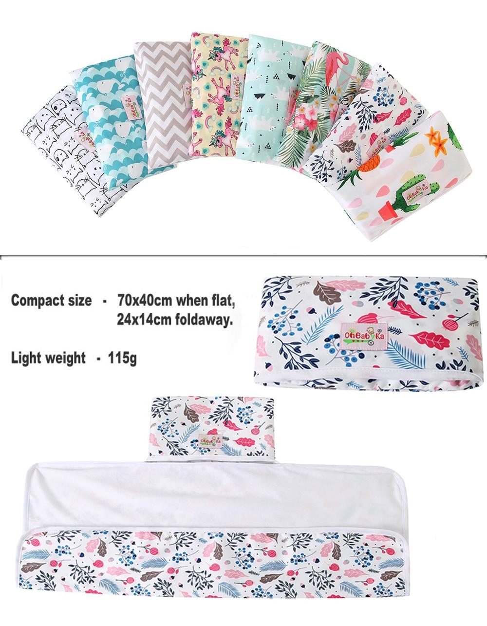 Новые 3 в 1 Водонепроницаемый пеленальный коврик пеленки мнчества, Портативный чехол для детских подгузников коврик чистой ручной складной сумка из узорчатой ткани
