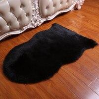 Australia Wool like Fabric Leather Sofa Carpet Mat Whole Piece Sheepskin Wool Cushion Window Cushion Living Room Bedroom Bedside|Carpet| |  -