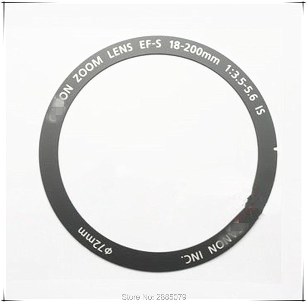 New 18-200 Fount Name Ring Parts For Canon EF-S 18-200mm F/3.5-5.6 IS Lens