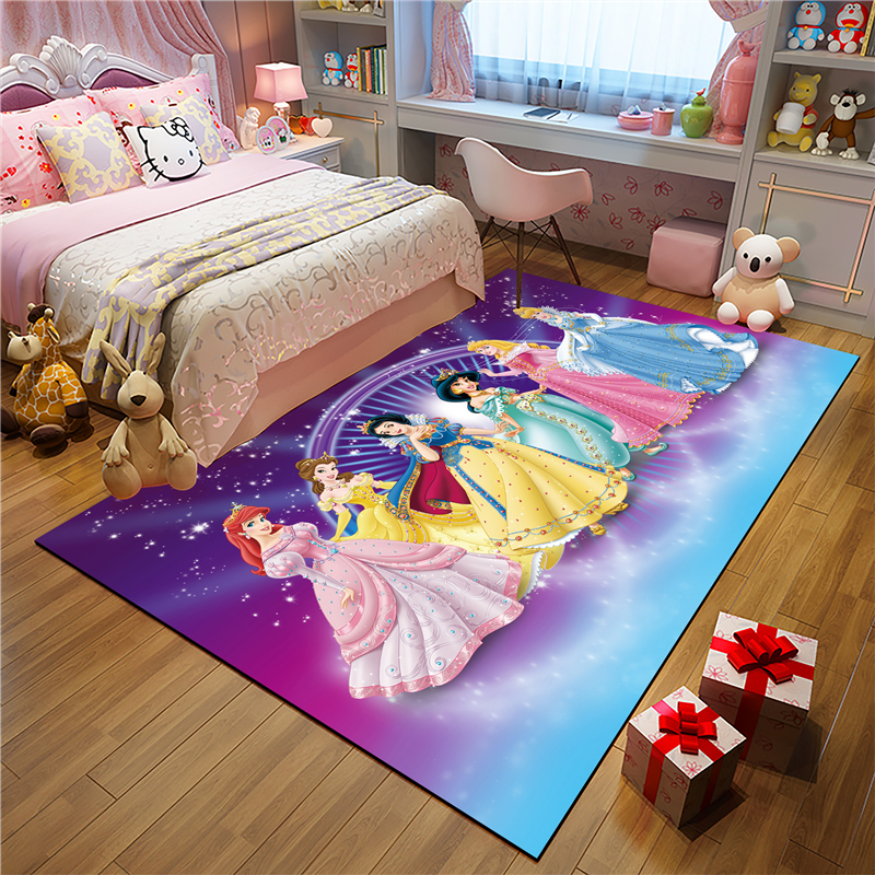 Princess Kitchen Mat Set Proof Long Carpet Hallway Doormat Bedside Floor Mat Non-slip Water Absorption Bathroom Rugs