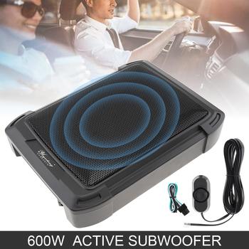 10 Cal 600W Slim samochodowy sprzęt audio aktywny subwoofer samochodowy pod siedzeniem głośnik głośnik basowy stereo niewielkie zniekształcenia wzmacniacz tanie i dobre opinie AOVEISE EPC_CSA_604 Zamknięta systemy subwoofer 1000W 4 to 8 ohm 89dB Aluminum Alloy Subwoofery 12 v Audio Power Amplifier