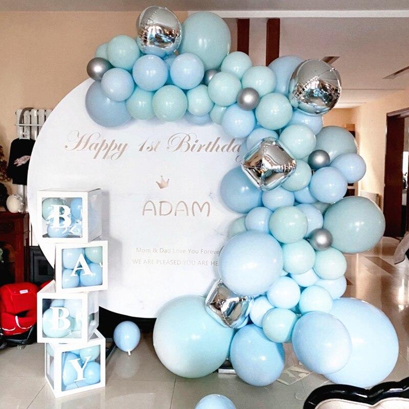 Kit de guirnalda de globos de cumpleaños, caja con soporte de letras y globos, decoración para fiestas de Baby Shower, decoración para bodas para niños ADEWEL, traje sin espalda de encaje negro para mujer, body sexy transparente, peleles 2020, traje de gato para fiesta, monos ajustados