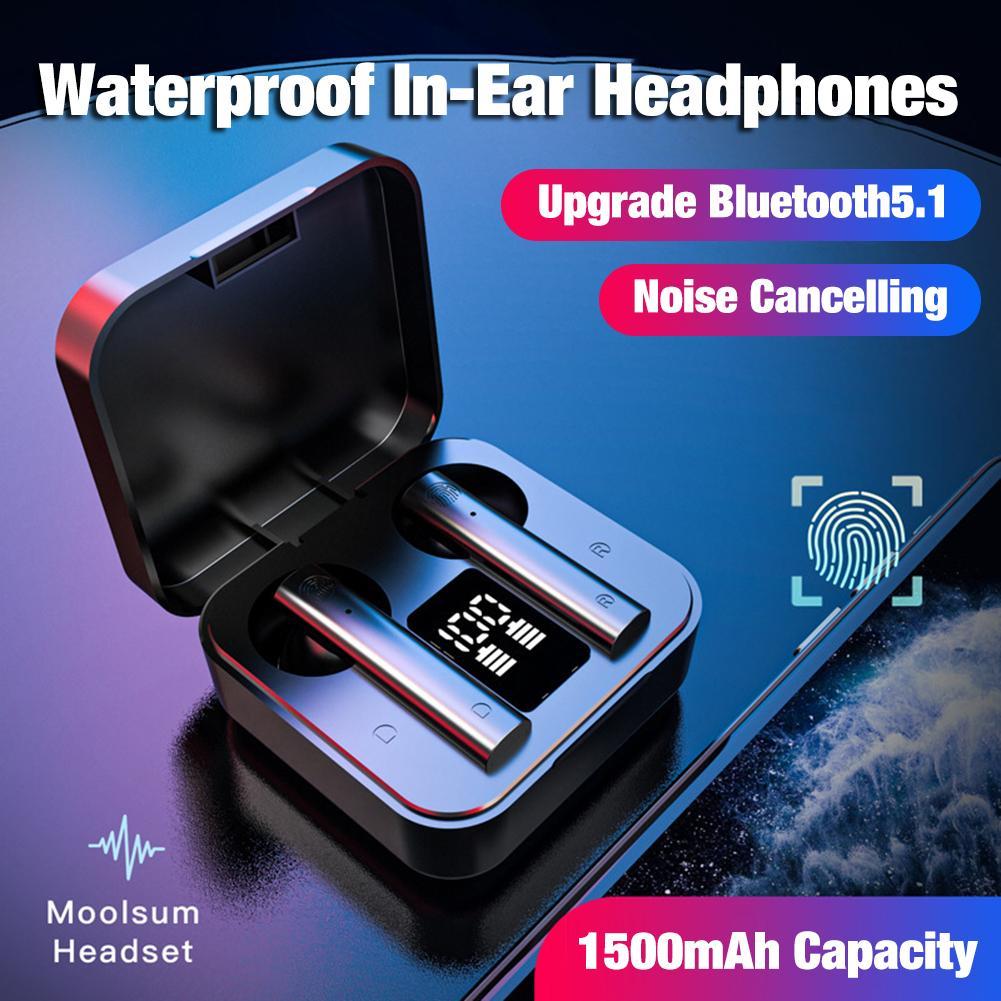 New Wireless Noise Cancelling Headset Bluetooth 5.1 Sports Earphones IP4 Waterproof In-Ear Headphones Earbuds For Xiaomi Air2S