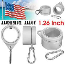 1 пара алюминиевый флажок из алюминиевого сплава полюсные кольца 360 градусов вращающийся флагшток флаг Монтажные кольца комплект с карабином для 1,26 дюймов флагштока