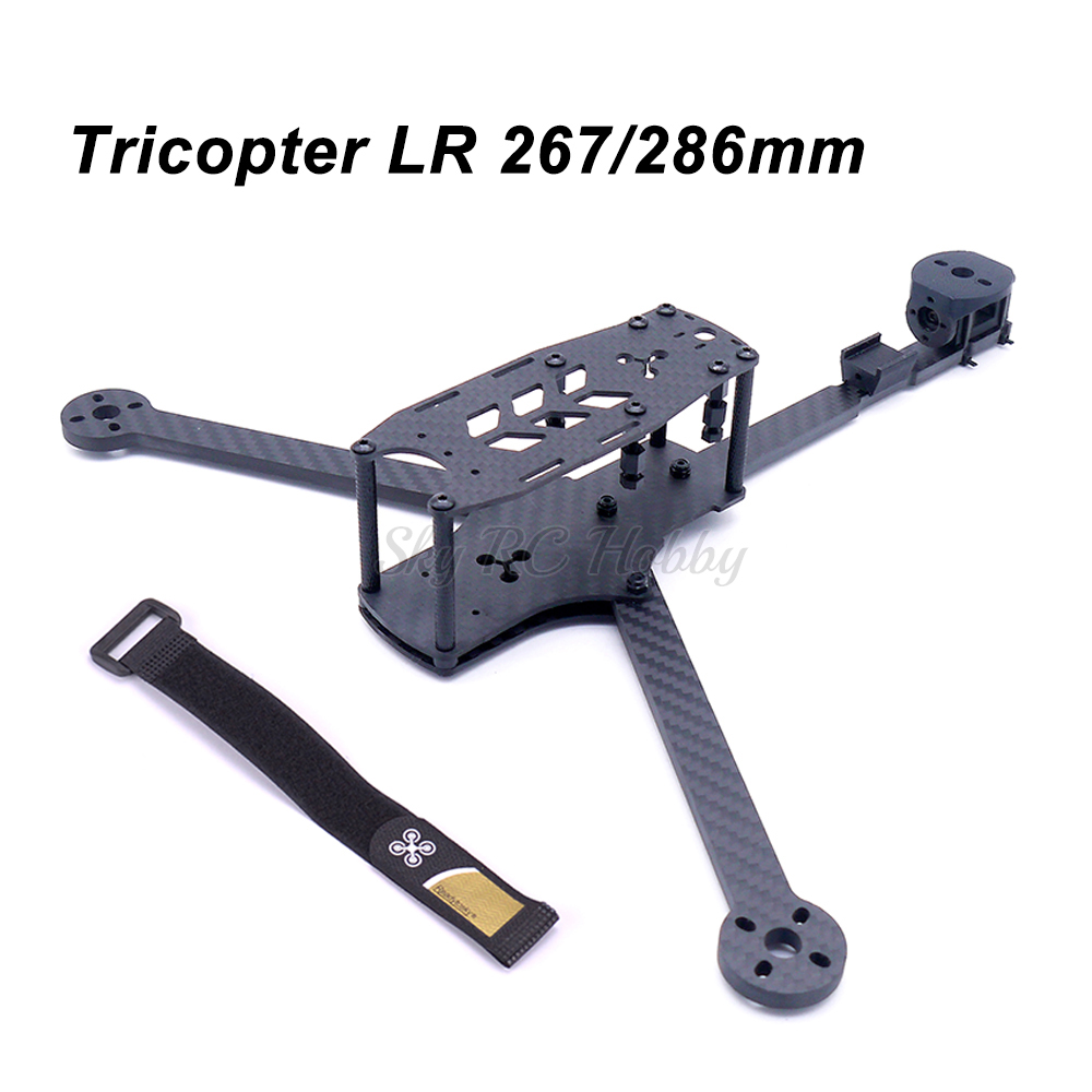 NEW Tricopter LR 267 / 286mm 8 inch 3 axis Y Type Pure Carbon Fiber Frame Kit with 5mm Arm for RC FPV racing Drone