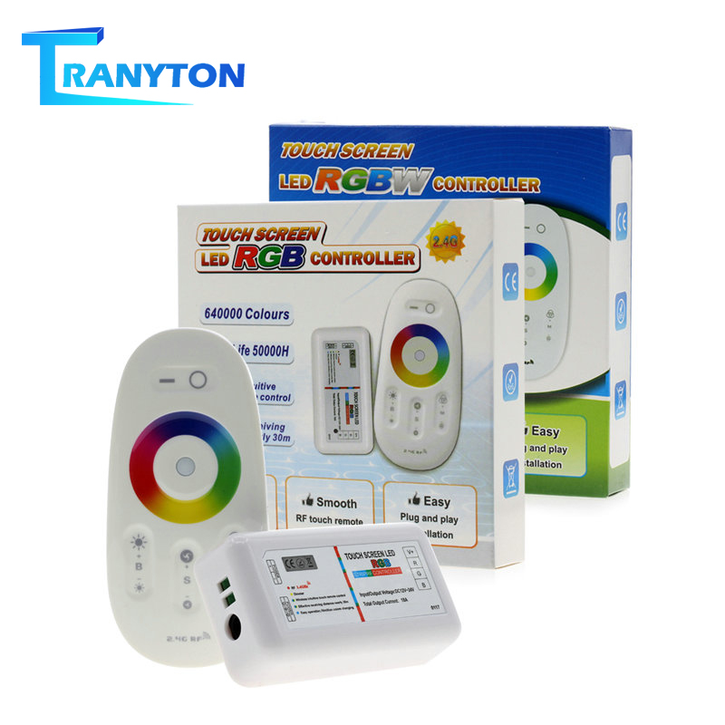 Touch Screen LED RGB / RGBW Controller 2.4G Wireless DC12-24V Touch RF Remote Control For RGB /RGBW LED Strip
