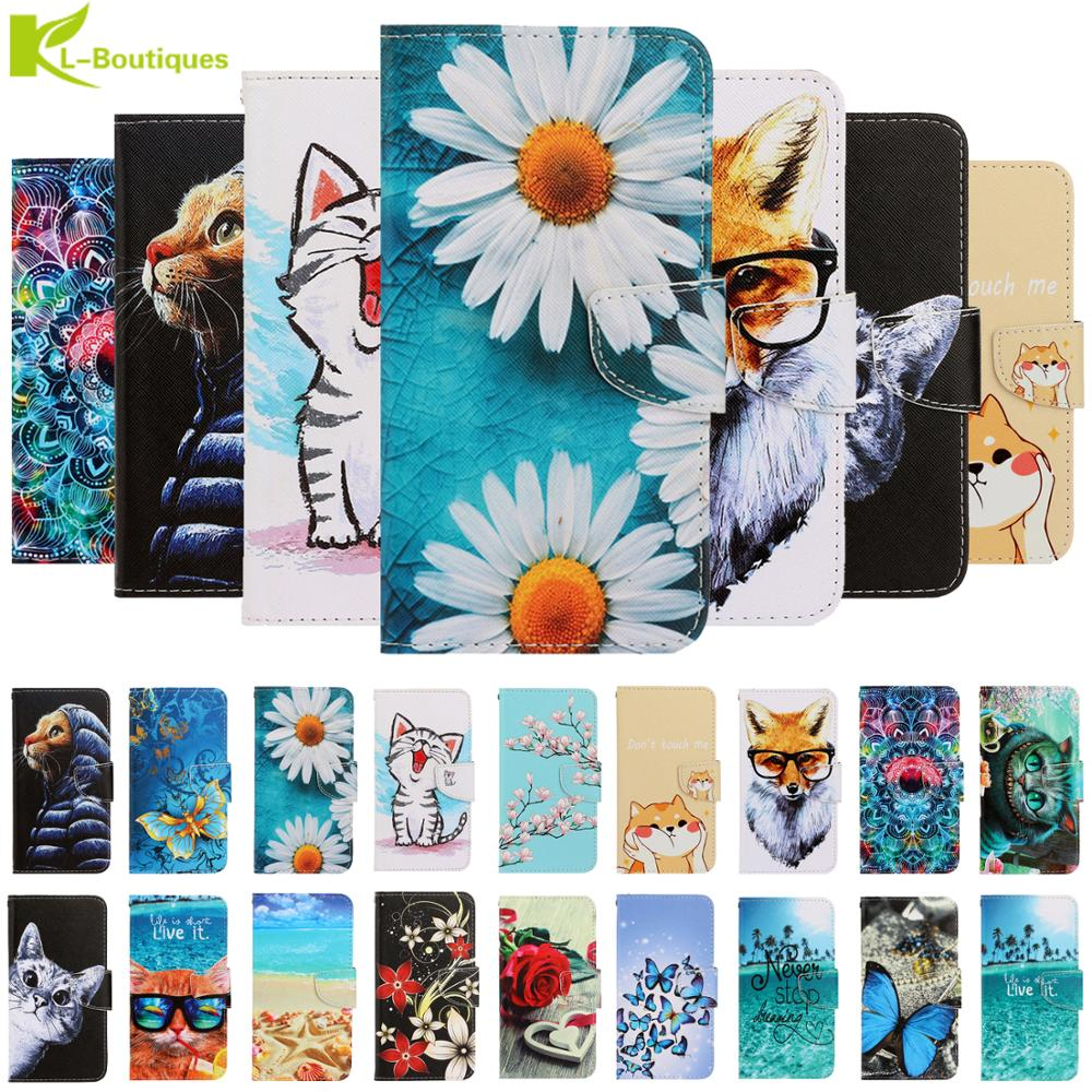 Animal Painted case on for etui Xiaomi Redmi 8A cover Xiomi Redmi 8 7A Note 8T 7 9S 10 CC9 Pro coque leather Mobile Phone cases(China)