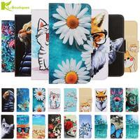 動物塗装ケース小箱のために xiaomi redmi 8A カバー xiomi redmi 8 7A 注 8 t 7 9 s 10 CC9 プロ coque 革携帯電話ケース