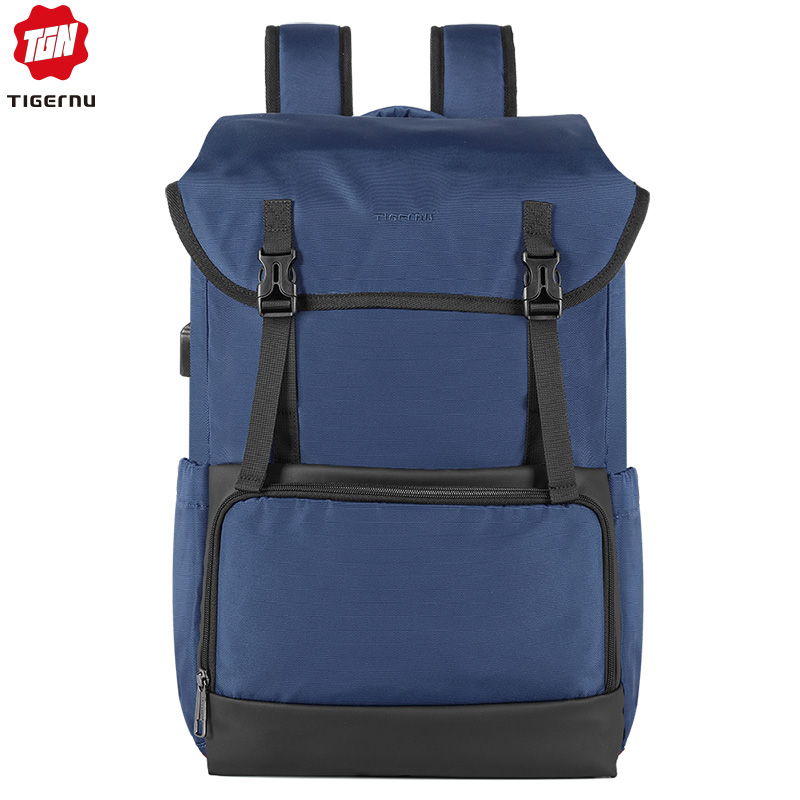 Tigernu New Laptop Backpack Draw Pocket USB Charging Travel Sport Waterproof Backpack Male Female Bag Pack With Usb