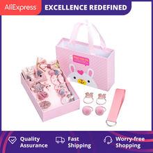 Accesorios coreanos para el cabello para bebé, tocado de princesa, diadema, 18 piezas, pasadores de niñas, Set de regalo