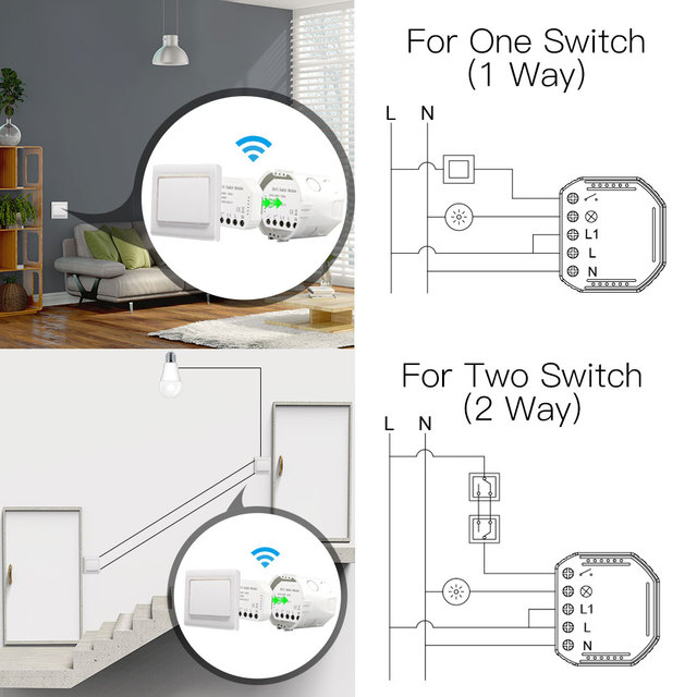 Moes Wifi Smart Light Switch Remote Control,Works with Alexa Google Home 2