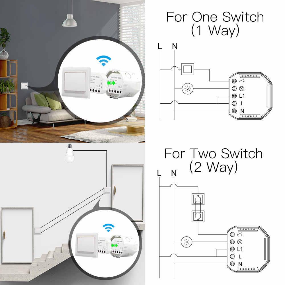 Умный светильник Wi-Fi, переключатель Diy, автоматический выключатель, модуль Smart Life/Tuya, дистанционное управление через приложение, работает с Alexa Google Home 1/2 Way