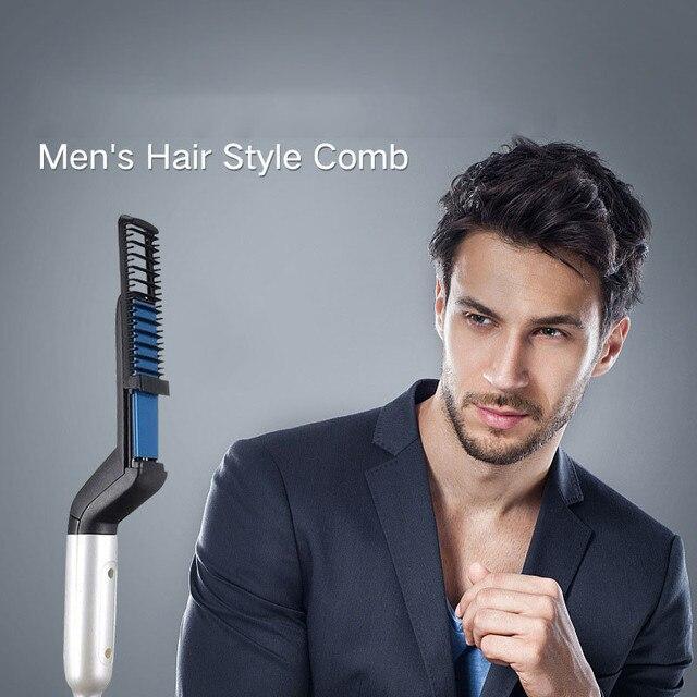 Men's Hair Comb Multifunctional Brush Beard Straightener Hair Straighten Straightening Comb Hair Curler Quick Hair Styler 1