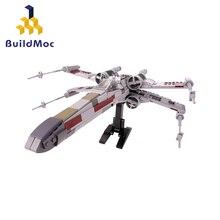 Buildmoc Mini Star Tie Fighter X Wing MicroFighters Wars AT Walker Building Blocks Star Toys 05053 10195