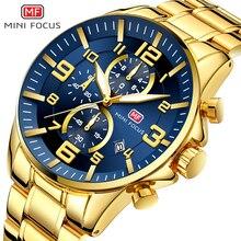MINI FOKUS Uhren Herren 2020 Top Marke Luxus Gold Uhr Kalender Wasserdicht Chronograph Multi Funktion Business Horloges Mannen
