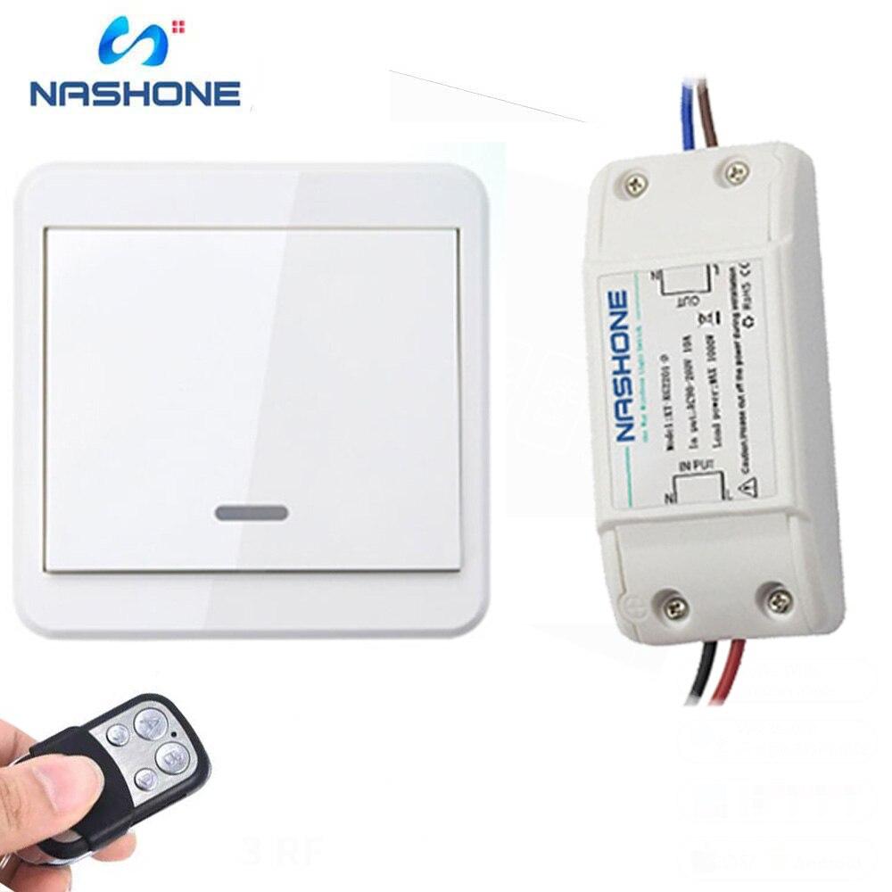 Light Switch RF 433Hz Wireless Remote Control Switch ON/OFF 90-260V Lamp Light Wireless Wall Remote Switch Receiver Transmitter