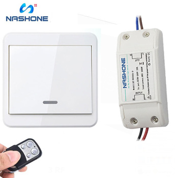 Light Wireless Switch RF 433Hz Remote Control Switch ON/OFF 90-260V Lamp Light Wireless Wall Remote Switch Receiver Transmitter new ac 220v 1 ch channels manual on off wireless remote control switch lamp light switch
