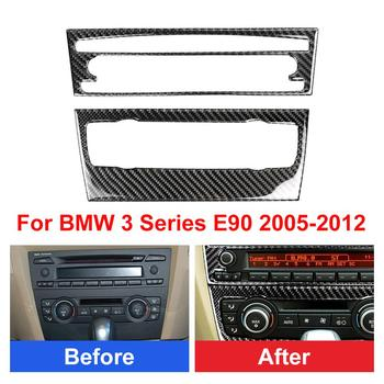 Carbon Fiber Air Conditioning CD Panel Cover Trim For BMW 3 Series E90 2005-2012 Waterproof For Car dashboard speaker panel image