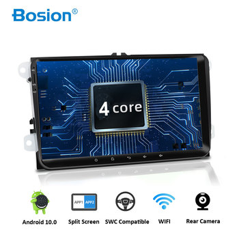 Bosion 9 2 din Android 10.0 Car DVD GPS radio stereo player for Volkswagen golf 6 passat b6 B7 Touran polo Tiguan seat leon image
