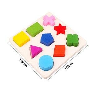 Image 4 - Holz geometrische klassifizierung mathematik Montessori puzzle vorschule spiel kleinkind lernen pädagogisches spielzeug für kinder