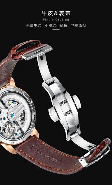 AILANG AAA جودة ساعة مكلفة مزدوجة توربيون سويسرا الساعات أفضل العلامة التجارية الفاخرة الرجال التلقائي ساعة ميكانيكية الرجال 6