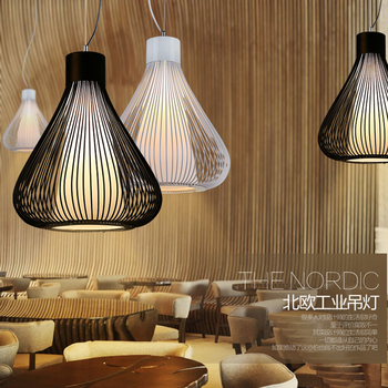 original Vintage pendant lamp lampara industrial style light wrought iron retro pendant lights industrie hotel bar light fixture