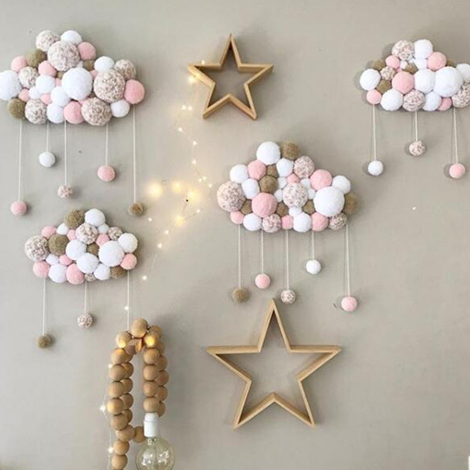 Girls Bedroom Plush Baby Room Wall Decorations Children Pacifying