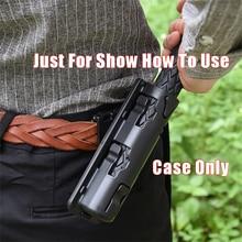 Survial-Kit Holster Baton-Case Edc-Tool Black-Holder Rotation Self-Defense Universal