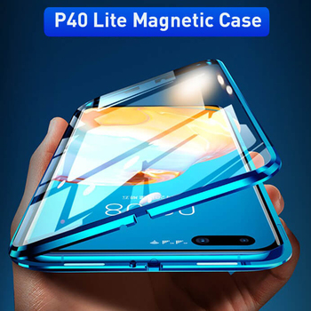 360 Magnetic Phone Cases For Huawei P40 Lite Flip Hard Glass Back Case Cover on Hawei P40 Pro P40 Light P 40 P30 Lite P 30 Coque фото