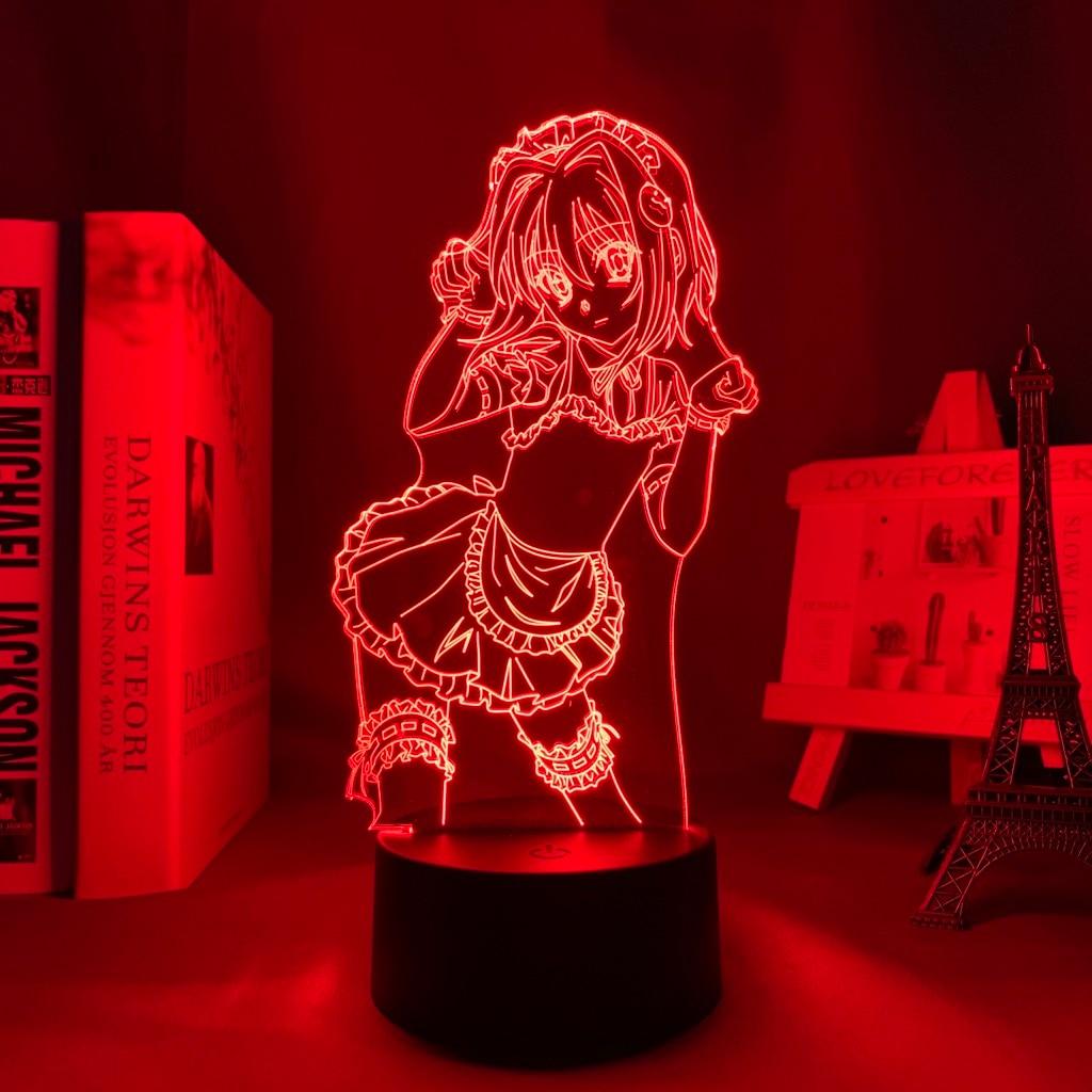 H203625c619ac46819724c6afd38536248 Luminária Dxd koneko toujou led night light para decoração do quarto nightlight presente de aniversário anime 3d lâmpada koneko toujou high school dxd