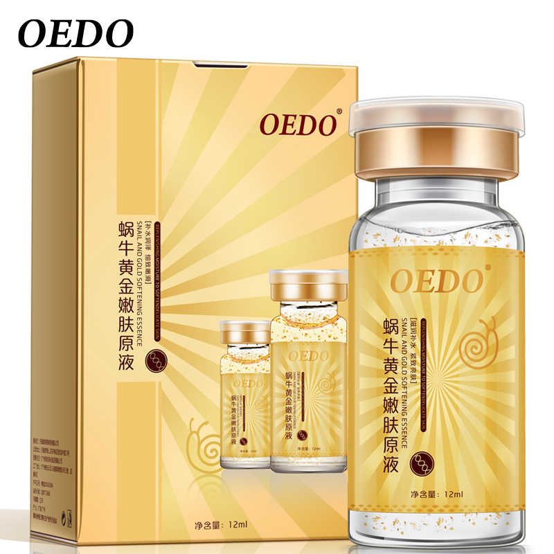 Anti-Aging Lumaca e Oro Essenza Idratante Acido Ialuronico Crema di Cura Trattamento Viso Creme Idratanti Siero Lumaca Estratto Puro