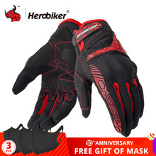 HEROBIKER Motorcycle Gloves Summer Breathable Guantes Moto Touch Screen Motocross Off Road Gloves Motorbike Riding Gloves
