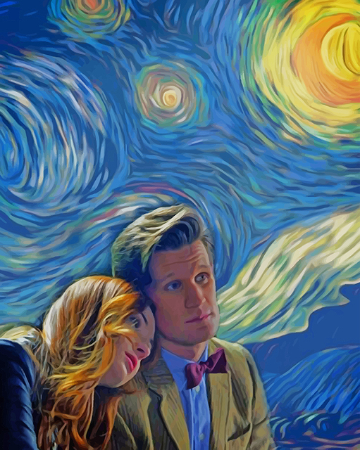 Painting by Numbers Dr Who Matt Smith Karen Gillian