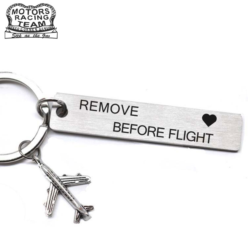 CLELO Luggage Tag Engraved Rmove Before Flight Metal Bagage Tags For Flight Crew Pilot Aviation Lover Travel Accessories