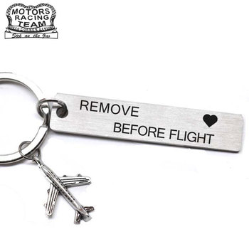 CLELO Luggage Tag engraved Rmove before Flight Metal bagage tags for Flight Crew Pilot Aviation Lover Travel Accessories luggage bagage tag label remove before flight key chain follow me travel accessories embroidery tag flight crew aviation gift