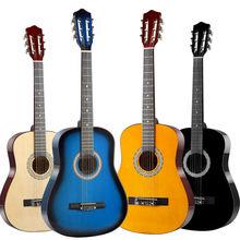 38/39 Polegada guitarras clássicas iniciantes 6 cordas guitarra de madeira clássica praticar mostrar guitarra presente de natal de ano novo