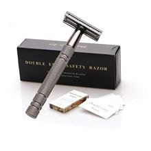 Double Edge Safety Razor With 10 Shaving Blades,Premium Wet Shaving Classic Metal Manual Shavers Fits All Standard Razor Blades