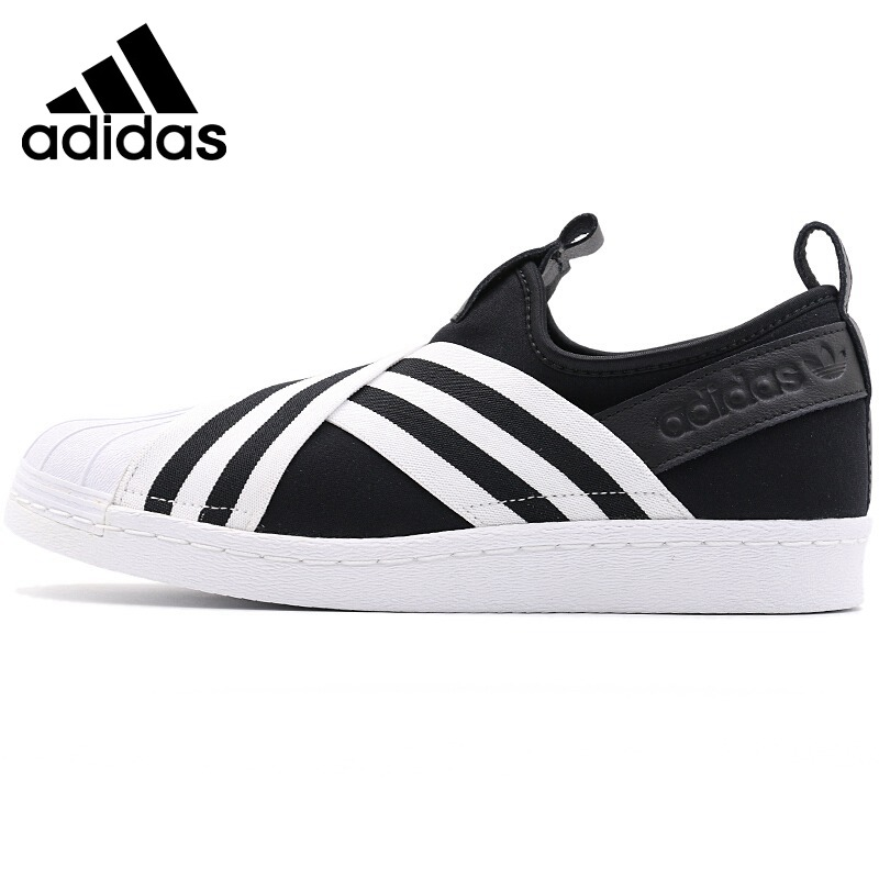 Original New Arrival 2018 Adidas Originals SUPERSTAR SLIPON W Women's Skateboarding Shoes Sneakers