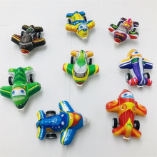Small Cartoon Mini Pullback Aircraft Transparent Mini Pull Back Car Toys Children's Simulated Pullback Fighter Model 1 pcs pull back gliding aircraft mini diecasts model aircraft rotate propeller toy for children random color 4 style bei jess