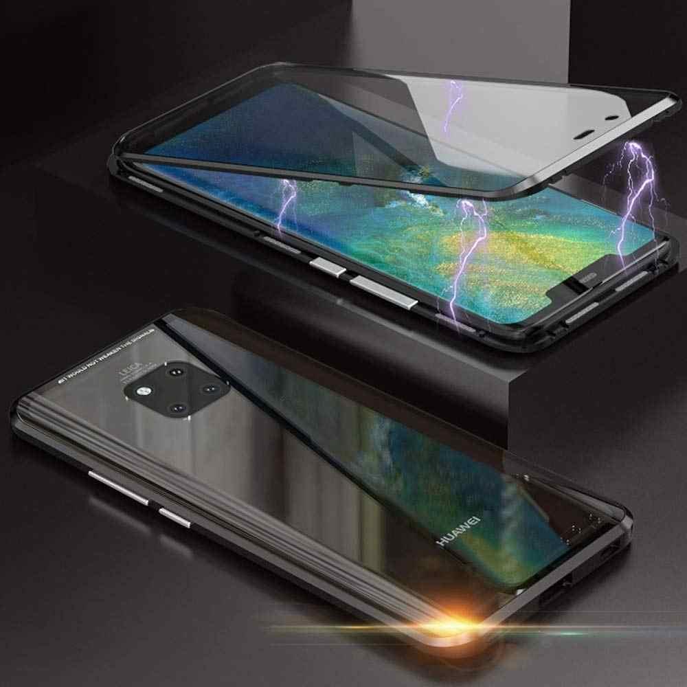 Assorbimento magnetico Del Telefono di Vibrazione Del Custodie per Huawei Mate 10 10Pro 10lite Della Copertura Posteriore del Metallo di Vetro Mate10 Mate10Pro Mate10Lite Pro lite