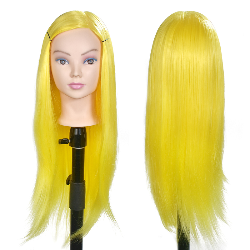 Professional training heads with long thick hairs practice Hairdressing mannequin dolls hair Styling maniqui tete for sale