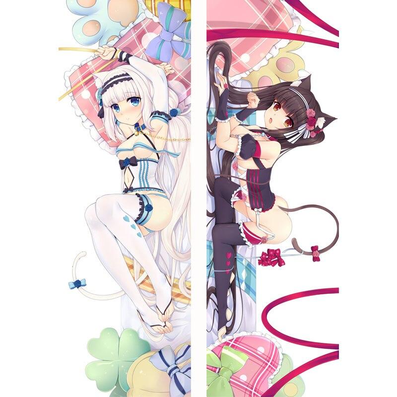 "59/"" Nekopara Dakimakura Coconut Anime Otaku Hugging Body Pillow Case Cover"
