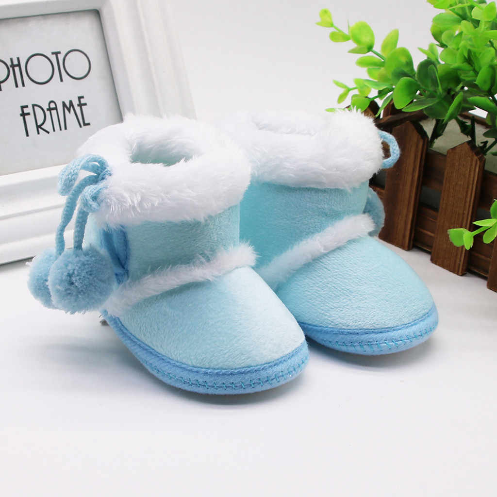 חורף יילוד מגפי בני בנות פלוק חם מראש הליכון נעלי תינוקות פעוט רך סוליות חורף אתחול ראשון ווקר חם מגפי נעליים