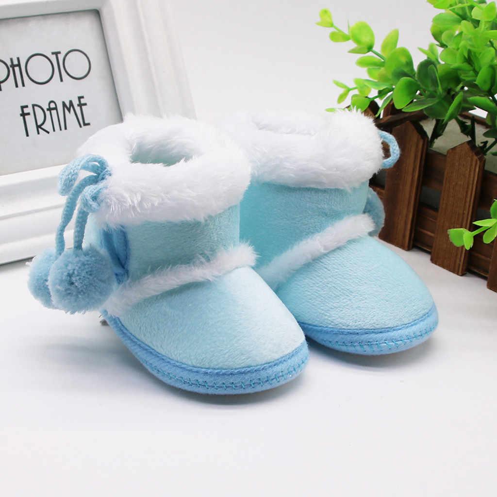 Botas de invierno para recién nacidos, botas de invierno para niños y niñas, botas cálidas para caminar, botas cálidas para niños pequeños con suela suave