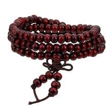 Буддийские Бусы из сандалового дерева, 6 мм, Медитация Будды, бусы, браслет для женщин и мужчин, Молитвенные Четки, деревянный браслет, украшения, ювелирные изделия
