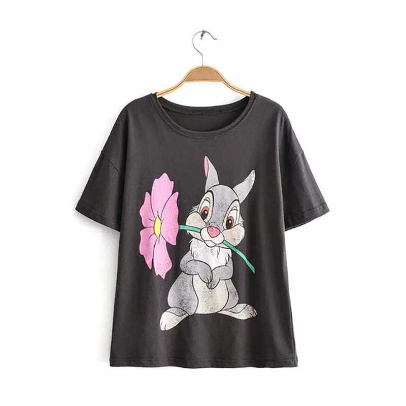 JXYSY León estampado de rey camiseta de mujeres en el Verano de 2020 Inglaterra estilo de moda pantalón corto casual de manga larga o-cuello de las mujeres camiseta